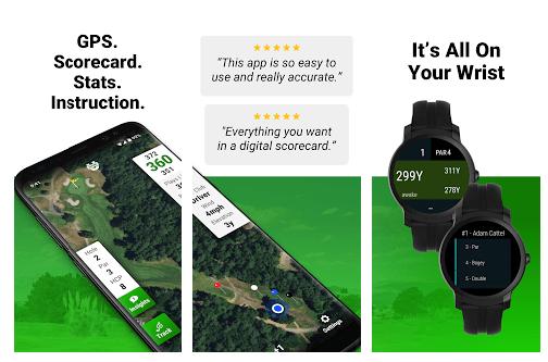 Golf GPS Scorecard-ecrans