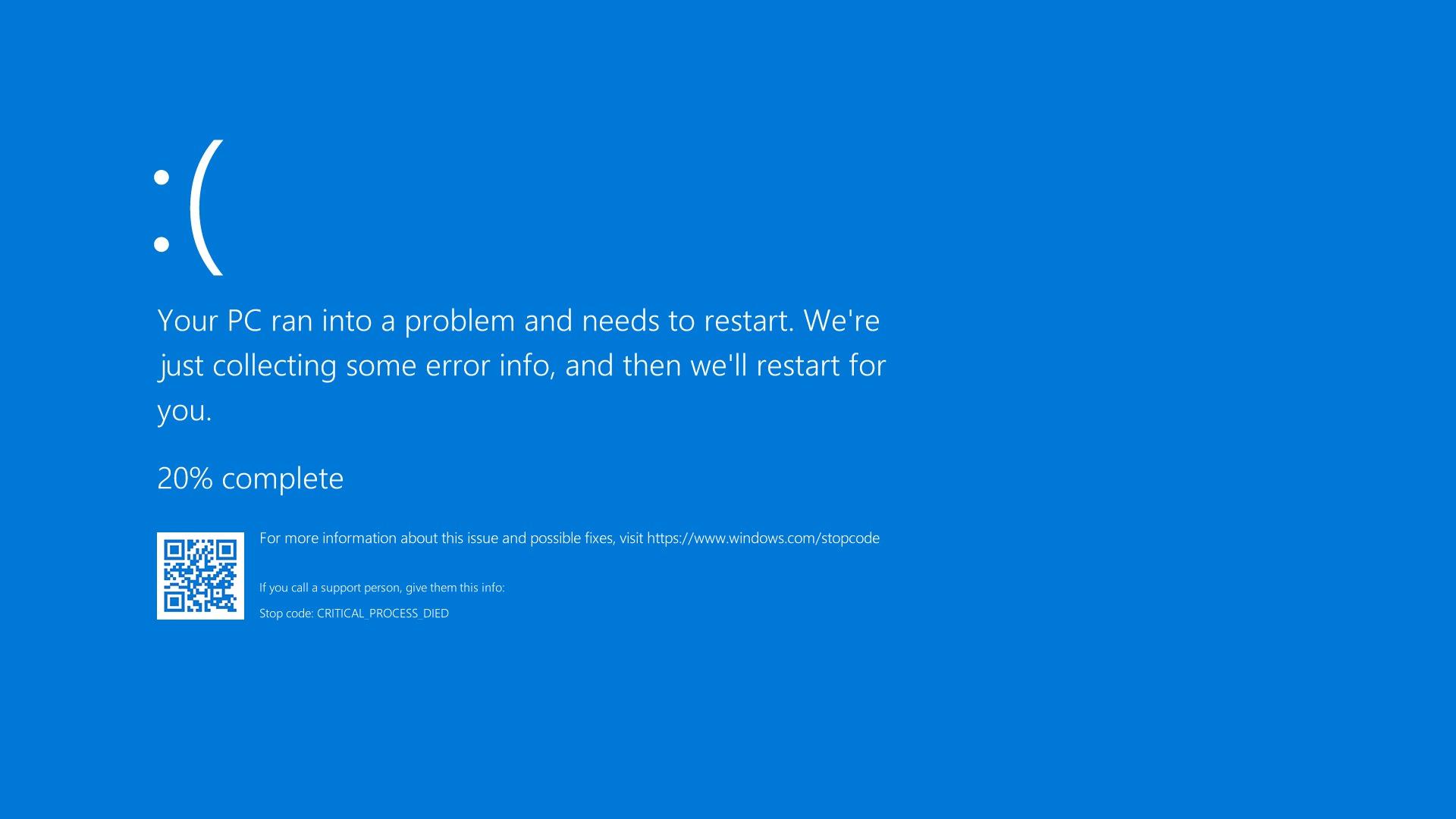 Comment réparer sur Windows 10 : Critical process died
